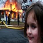 Создать Девочка поджигательница Мем